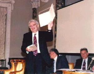 St. Petersburg, October 1995. The presentation of A.P. Karpinskii Prize.